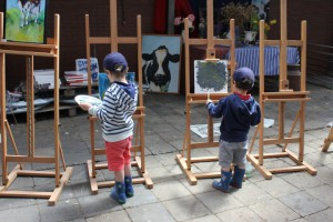 Cono twee jongetjes schilderen (Small)
